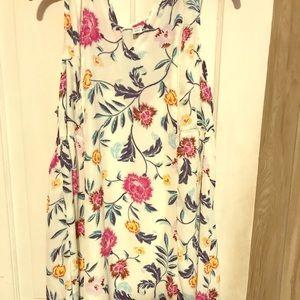 Floral lined dress